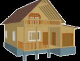 Дом из бруса 6х12 1,5 эт с гаражом